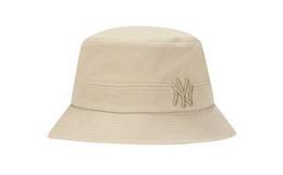 领劵!MLB 圆顶全棉刺绣加粗字母渔夫帽防晒个性男女盆帽