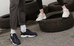 7.3折!ASICSTIGER不对称鞋带透气男女缓震运动鞋