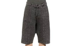 3折!英国KTZ鳄鱼纹灰黑色七分阔腿裤
