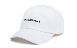 5折!FINGERCROXX简约LOGO字母刺绣弯沿鸭舌帽