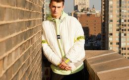 用劵优惠!Lilbetter棒球领拉链袖标保暖短款男棉服