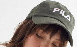 FILA经典刺绣logo男女复古棒球帽鸭舌帽