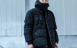 ENSHADOWER隐蔽者双面穿可拆卸连帽棉服男外套