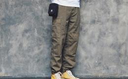 7折!714street Dyed Cargo做旧蜡染格子布工装裤