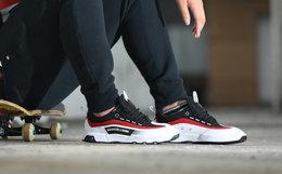新品8折!DC复古系带皮革拼接男士跑鞋运动鞋