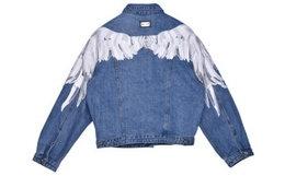 新品用券优惠!HARDY HARDY翅膀刺绣牛仔夹克外套