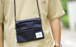 F/CE. 拼接螺旋肩带多拉链贴标logo男女单肩包斜挎包