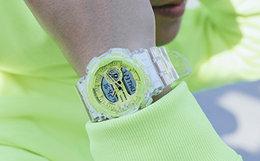 新品!Casio G-SHOCK See thru冰韧系列撞色圆表盘手表