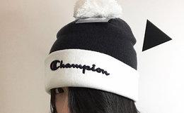 champion冠军经典草写字母线帽情侣冷帽