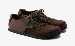 6.4折!BIRKENSTOCK 软木鞋垫绒面拼接男女绑带休闲鞋