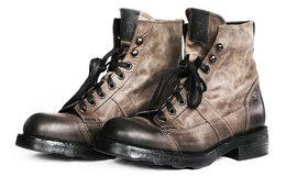 6.2折!意大利OXS frank系列复古做旧中筒马丁靴