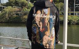 小幅优惠!Ripndip Madonna圣母耶稣贱猫教练夹克外套