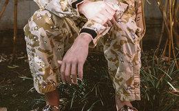 新品6折!CLOT沙漠荆棘胶囊系列迷彩休闲长裤