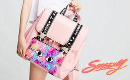 【新品】SSSEXY CAT粉色可分解两用猫咪双肩包
