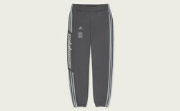 新品!adidas yeezy直筒拼接印花束脚运动男裤