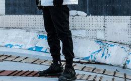 7.5折!ENSHADOWER隐蔽者黑色加绒运动裤束脚男裤