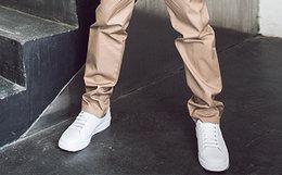 8.5折!FRED PERRY圆头系带低帮板鞋情侣小白鞋