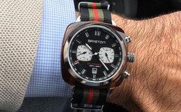 4.8折!法国Briston熊猫款黑色计时运动手表