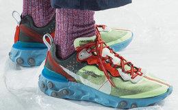 高桥盾UNDERCOVER x Nike87联名透明拼色复古跑鞋运动鞋
