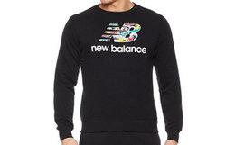 7.4折!New Balance鞋款拼接logo印花卫衣
