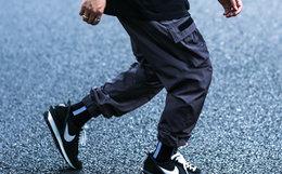 ENSHADOWER 隐蔽者皱感抽绳盖袋束脚裤男宽松工装裤