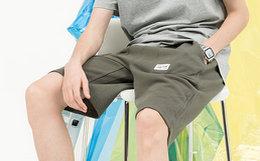 4折!DUSTY拼接腰花贴布插袋直筒舒适短裤男卫裤
