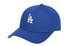 领劵优惠!MLB 加粗刺绣字母棉质男女棒球帽街头风弯檐帽