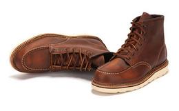 特价!红翼Red Wing1907经典方头复古牛皮短筒工装靴