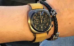 4.4折!Briston石英复古皮质表带玻璃表盘男女手表