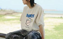 新品8.3折!TYAKASHA塔卡沙大力水手印花男女短袖T恤