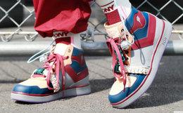 限量新品!PONY×周笔畅×Lucia Liu合作款拼色绑带复古蓝球鞋
