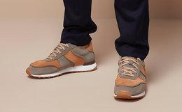 4.3折!clarks 其乐皮革拼色系带舒适运动鞋休闲男鞋