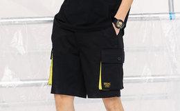 4.9折!Dusty 功能型个性大口袋拼接撞色工装裤男短裤