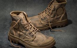 新品!PALLADIUM 帕拉丁扎染系带帆布鞋男女高帮靴