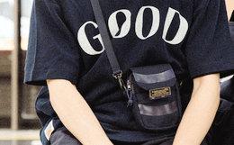 ACROSS X ANB 联名皮革标语标签男女单肩斜跨小挂包
