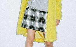 6折!XGIRL 原创西式刺绣logo多色彩格纹女日系短裙