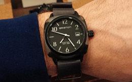 5.3折!法国Briston磨砂表盘简约军事风石英手表