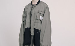 LETROTTOIR 拼色毛边多口袋机能飞行外套男女夹克