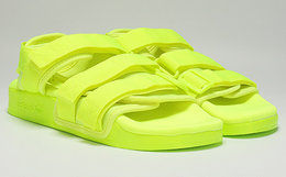 5折!Adidas Originals阿迪达斯荧光色魔术贴凉拖鞋