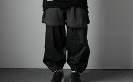 The Dirty Collection 3.0 前后片短裤拼接束口男女机能裤