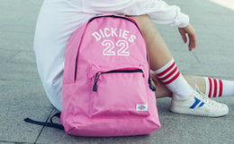 4.7折!Dickies简约拉链刺绣纯色女户外双肩包背包