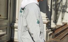 新品!Lilbetter棒球领拉链人像加厚男棉服外套