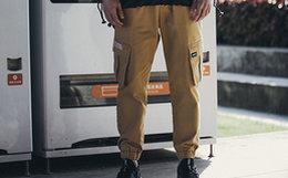 7折!陈赫潮牌 TIANC BRAND直筒工装裤男束腿裤