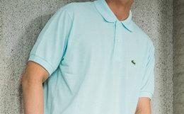 3.7折!Lacoste/拉科斯特刺绣鳄鱼标男短袖休闲POLO衫
