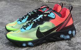 新品领劵!NIKE耐克87拼接撞色透明系带跑步鞋男运动鞋