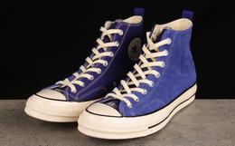 Converse x Madness联名70系带翻皮毛拼接高帮帆布鞋