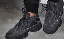 新品!adidas YEEZY 500黑武士椰子复古老爹鞋