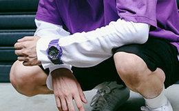 新品!Casio/G-SHOCK 撞色表盘防磁防震LED照明男手表