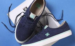 5.4折!DCSHOECOUSA/DC圆头麂皮绒面系带男女滑板鞋