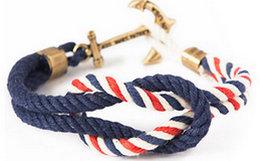 4.6折!KJP复古海洋风船锚编织手链 美国进口